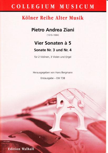Ziani, Pietro Andrea (~1620-1684): Vier Sonaten à 5 aus op. 7<br>- Sonatas No. 3 & 4