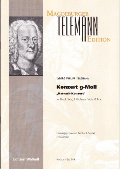 Telemann, Georg Philipp (1681-1767): Konzert g-Moll Harrach-Konzert<br>- Partitur