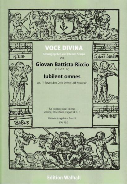 Riccio, Giovan Battista (16./17. Jh): Il Terzo Libro Delle Divine Lodi Musicali - Band II