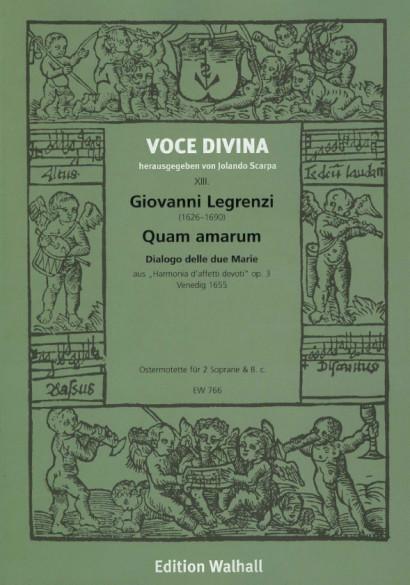 Legrenzi, Giovanni (1605-1674): Quam amarum - Dialogo delle due Marie