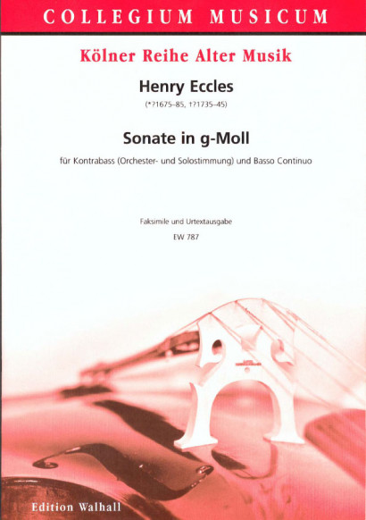 Eccles, Henry (*1675-85, #1735-45): Sonata XI G minor