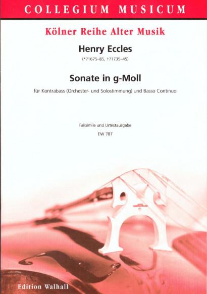 Eccles, Henry (*1675-85, #1735-45): Sonata XI g-Moll