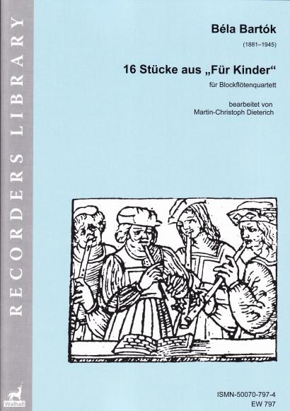 """Bartók, Béla (1881–1945): 16 Stücke aus """"Für Kinder"""""""