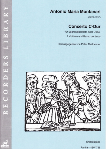 Montanari, Antonio Maria (1676–1737): Concerto C-Dur<br>– Piano reduction