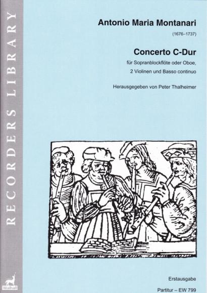 Montanari, Antonio Maria (1676–1737): Concerto C-Dur<br>– Partitur
