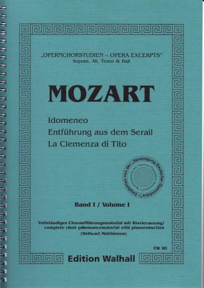 Opernchorstudien für Sopran, Alt, Tenor & Baß<br>- Mozart - Band I, 161 S.