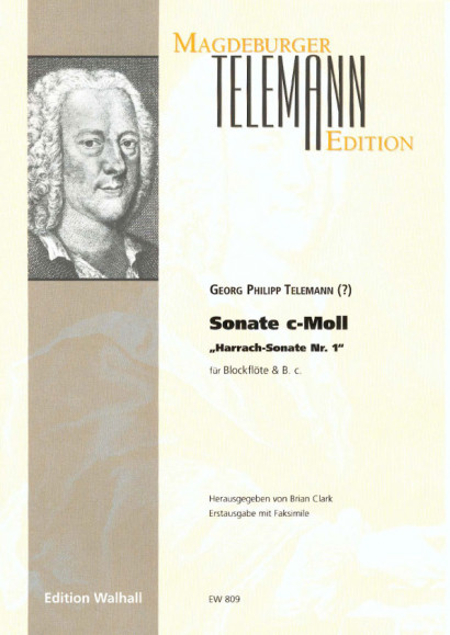 "Telemann, Georg Philipp (1681-1767): Sonate c-Moll - ""Harrach-Sonate Nr. 1"""