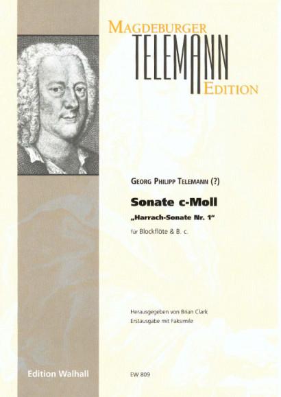 """Telemann, Georg Philipp (1681-1767): Sonate c-Moll - """"Harrach-Sonate Nr. 1"""""""