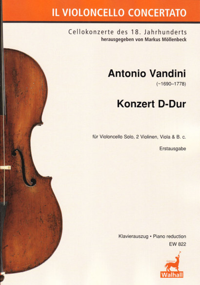 Vandini, Antonio (~1690–1778): Concert D Major - Piano reduction