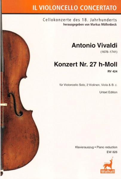 Vivaldi, Antonio (1678–1741): Konzert Nr. 27 h-Moll RV 424<br>- Piano reduction