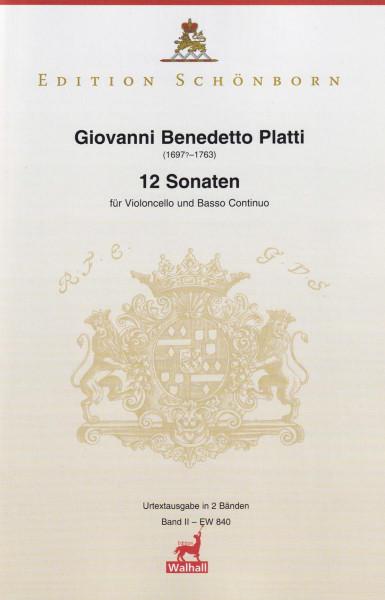 Platti, Giovanni Benedetto (1697-1763): 12 Sonaten<br>Sonaten VII-XII (D WD 698)