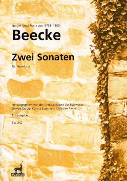 Beecke, Notger I. F. von (1733-1803): Zwei Sonaten