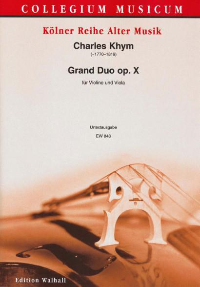 Kyhm, Charles (~1770- 1819): Grand Duo op. X