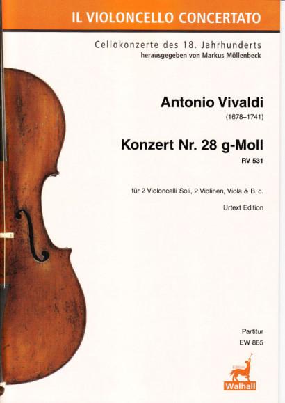 Vivaldi, Antonio (1678–1741): Konzert Nr. 28 g-Moll RV 531<br>– Partitur