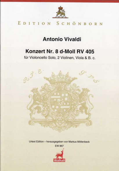 Vivaldi, Antonio: Concert No. 8 D Minor RV 405<br> – Score