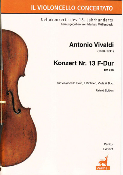 Vivaldi, Antonio (1678–1741): Konzert Nr. 13 F-Dur RV 410<br>- Score