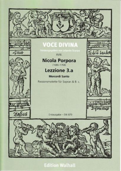 Porpora, Nicola (1686–1768): Lezzione 3.a Mercordì Santo