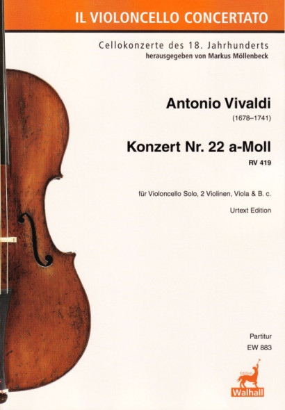 Vivaldi, Antonio (1678–1741): Concert No. 22 A Minor RV 419<br>- Score