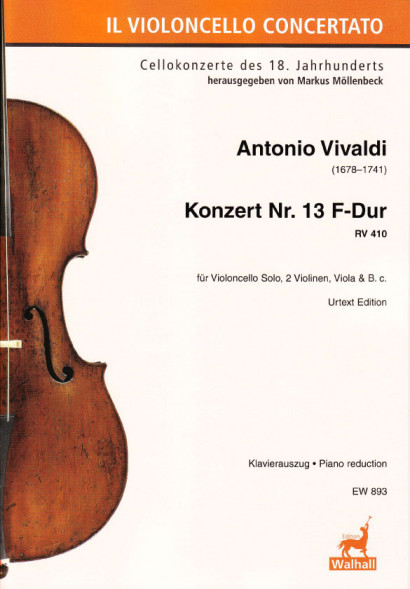 Vivaldi, Antonio (1678–1741): Konzert Nr. 13 F-Dur RV 410<br>- Piano reduction