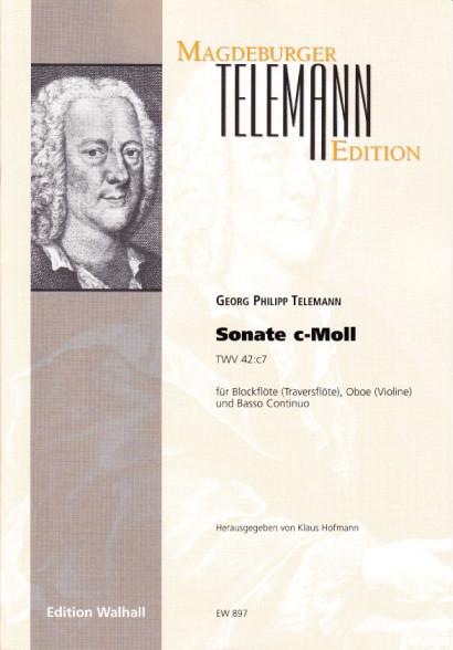 Telemann, Georg Philipp (1681– 1767): Sonate c-Moll (TWV 42:c7)