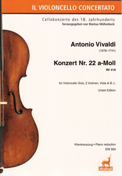 Vivaldi, Antonio (1678–1741): Concert No. 22 A Minor RV 419<br>- Piano reduction
