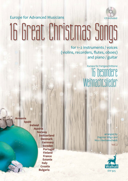 Europe for Advanced Musicians: 16 Great Christmas Songs<br>– Vol. 2