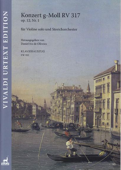 Vivaldi, Antonio (1678–1741): Konzert g-Moll RV 317 op. 12/1<br>– Klavierauszug
