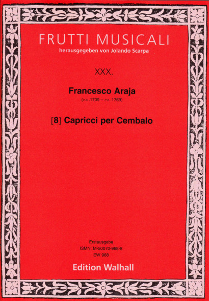 Araja, Francesco (~1709–~1769): 8 Capricci per Cembalo