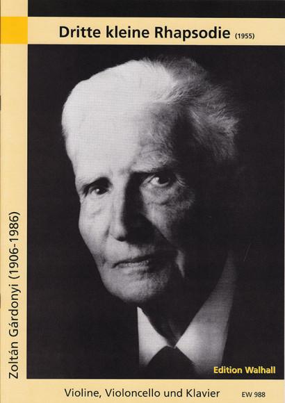 Gárdonyi, Zoltán (1906–1986): Dritte kleine Rhapsodie (1955)