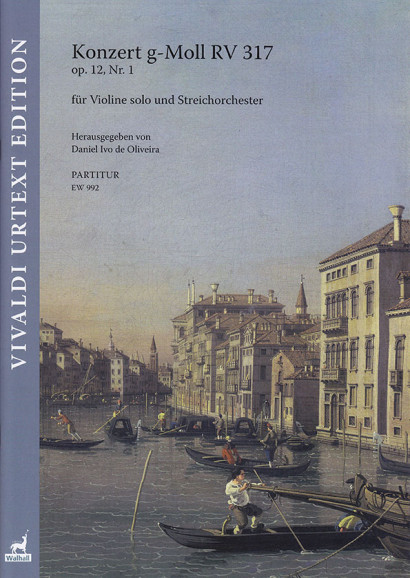 Vivaldi, Antonio (1678–1741): Konzert g-Moll RV 317 op. 12/1<br>– Partitur