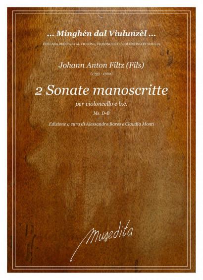 Filtz (Fils), Johann Anton (1733–1760): 2 Sonate manoscritte