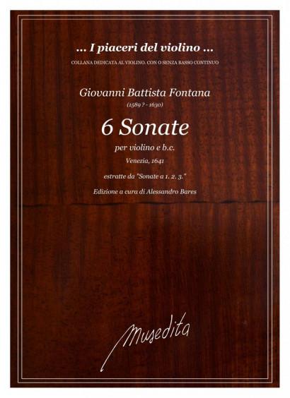 Fontana, Giovanni Batista (1589?–1630): 6 Sonate
