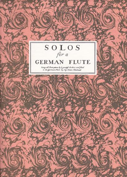 Chaboud / Castrucci op. 1 /Geminiani op. 1:Solos for a German Flute