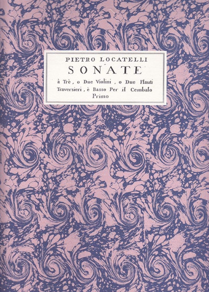Locatelli, Pietro (1695–1764):VI Sonate a tre op. 5