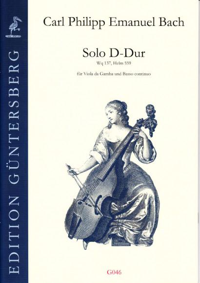 Bach, Carl Philipp Emanuel (1681- 1767): Solo D-Dur Wq 137