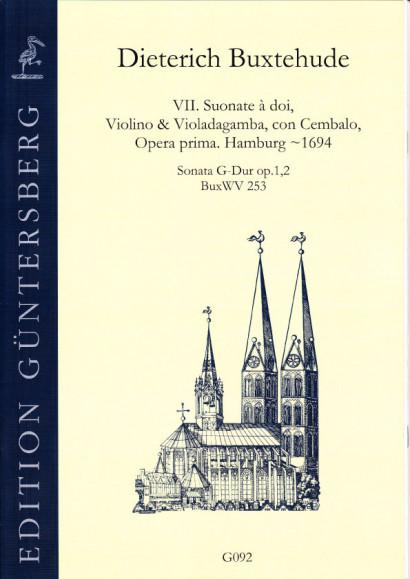 Buxtehude, Dieterich (~1637-1707): VI. Suonate à doi, Violino & Violadagamba, con Cembalo, Opera prima BuxWV 252-258<br>- Sonata G major