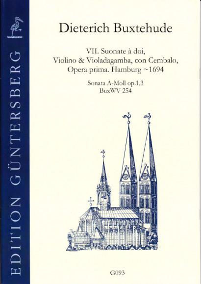Buxtehude, Dieterich (~1637-1707): VI. Suonate à doi, Violino & Violadagamba, con Cembalo, Opera prima BuxWV 252-258<br>- Sonata A minor