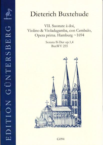 Buxtehude, Dieterich (~1637-1707): VI. Suonate à doi, Violino & Violadagamba, con Cembalo, Opera prima BuxWV 252-258<br>- Sonata B major