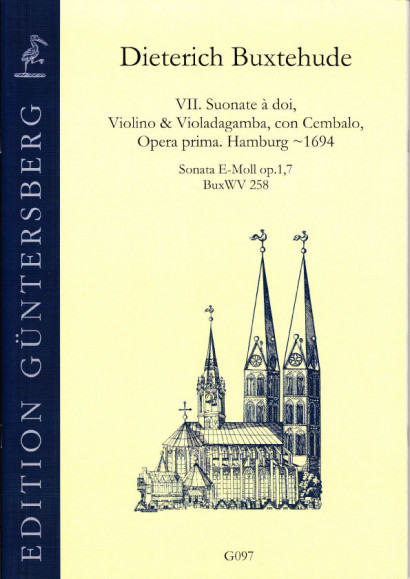 Buxtehude, Dieterich (~1637-1707): VI. Suonate à doi, Violino & Violadagamba, con Cembalo, Opera prima BuxWV 252-258<br>- Sonata E minor