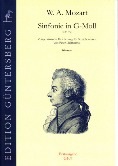 Mozart, Wolfgang Amadeus (1756-1791): Symphony in G minor KV 550<br>- set of parts