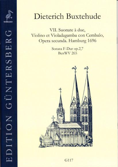 Buxtehude, Dieterich (1637-1707): VII. Suonate à due, Violino et Violadagamba con Cembalo, Opera secunda. BuxWV 259-265,<br>- Sonata E major