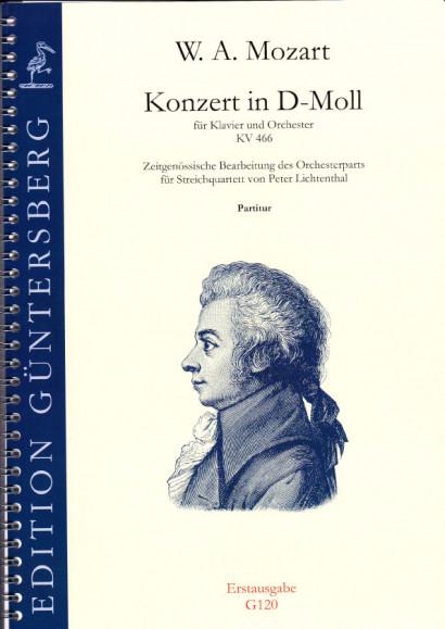Mozart, Wolfgang Amadeus (1756-1791): Konzert in d-Moll KV 466