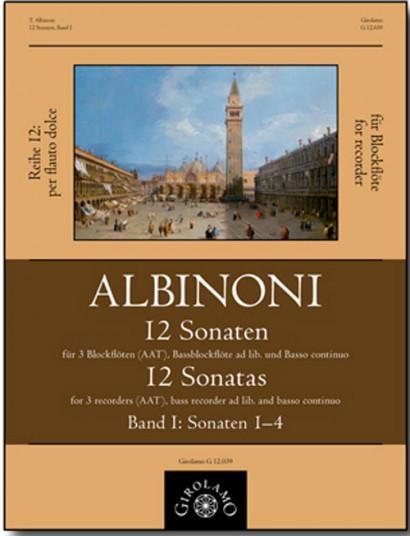 Albinoni, Tommaso (1671–1751): 12 Sonaten – Sonaten 1–4