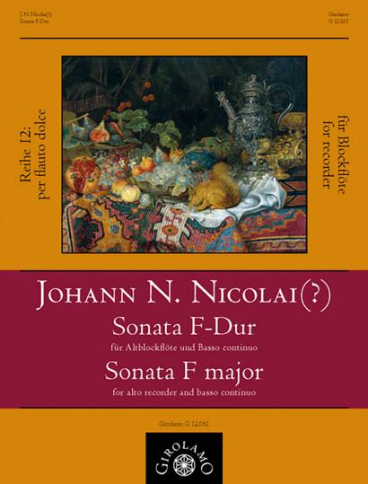 Nicolai (?), Johann Nicolaus († 1728): Sonata F major