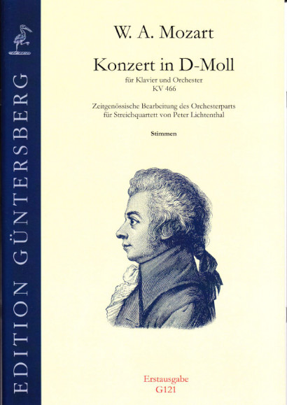 Mozart, Wolfgang Amadeus (1756-1791): Concert in D minor KV 466<br>- set of parts