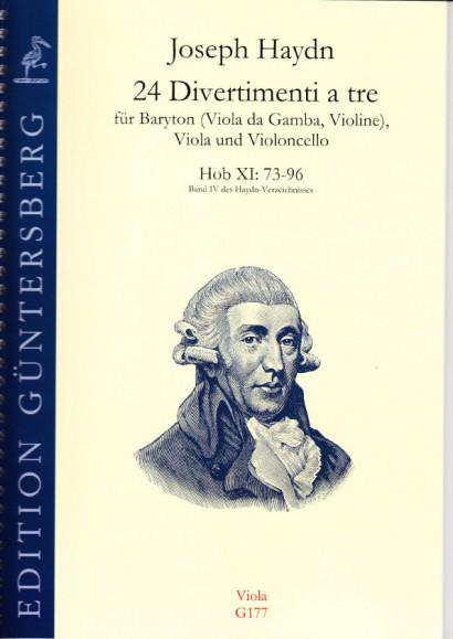 Haydn, Joseph (1732-1809): 24 Divertimenti a tre Nr. 73-96<br>- viola