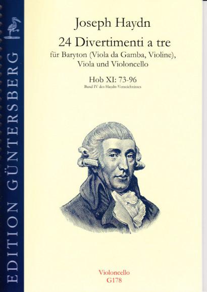 Haydn, Joseph (1732-1809): 24 Divertimenti a tre Nr. 73-96<br>- Violoncello