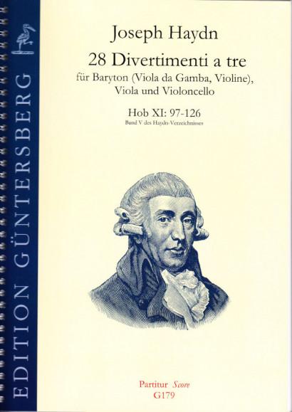 Haydn, Joseph (1732-1809): 28 Divertimenti a tre Nr. 97-126