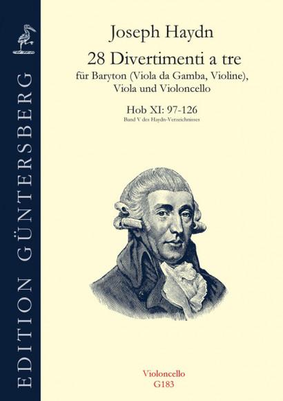 Haydn, Joseph (1732-1809): 28 Divertimenti a tre Nr. 97-126<br>- violoncello