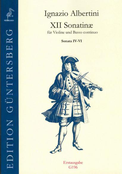 Albertini, Ignazio (~1644-1685): XII Sonatinæ<br>- Sonatinas IV-VI